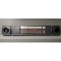 Terrasverwarmer, ULTRA LOW GLARE, 2000 watt RC , bluetooth met 2 ingebouwde speakers