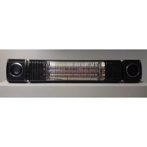 Terrasverwarmer, ULTRA LOW GLARE, 2000 watt RC , bluetooth met 2 ingebouwde speakers