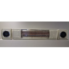 Terrasverwarmer, ULTRA LOW GLARE, 2000 watt RC , bleutooth met 2 ingebouwde speakers