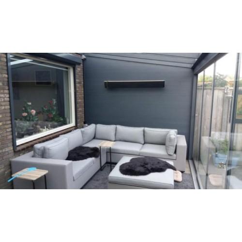 Heatstrip, terrasverwarmer,  2400 watt RC 4 standen + timer