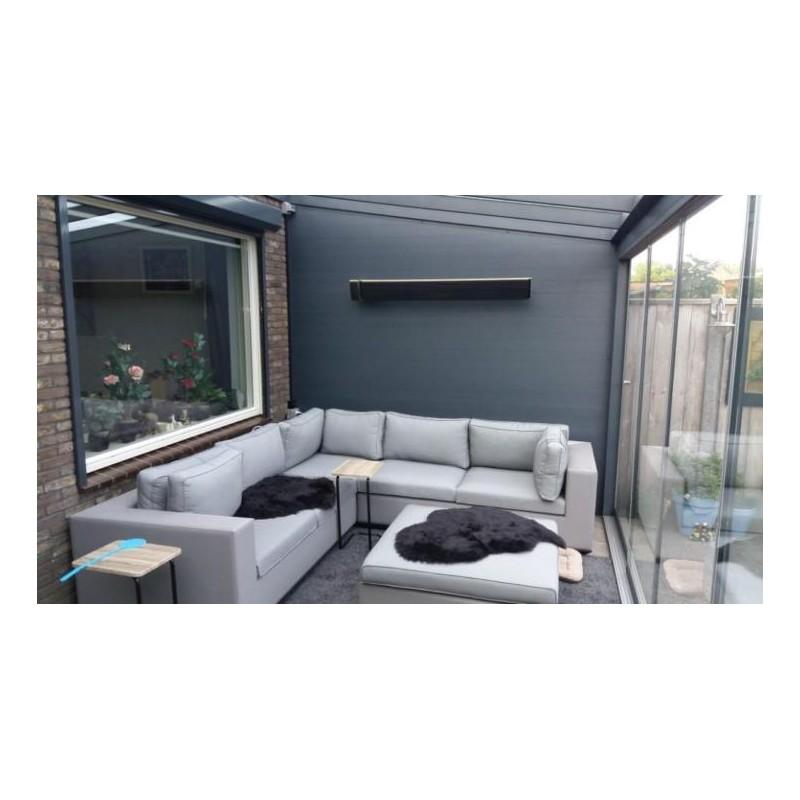 Heatpanel, terrasverwarmer,  2400 watt RC 4 standen + timer